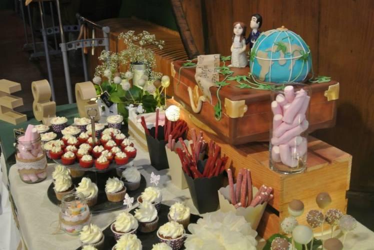 mesa dulce boda besando sapos chuches