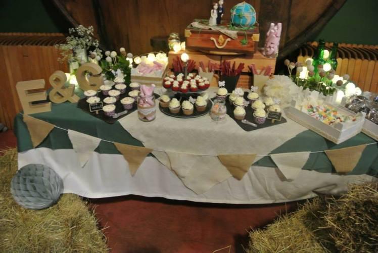 mesa dulce boda besando sapos