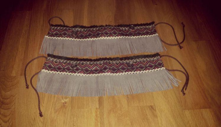 cubre botas flecos handmade hecho a mano étnicos