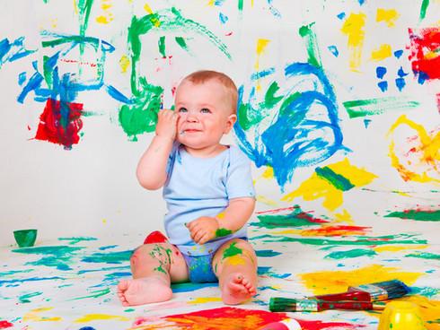 pintura de dedos. Educación infantil