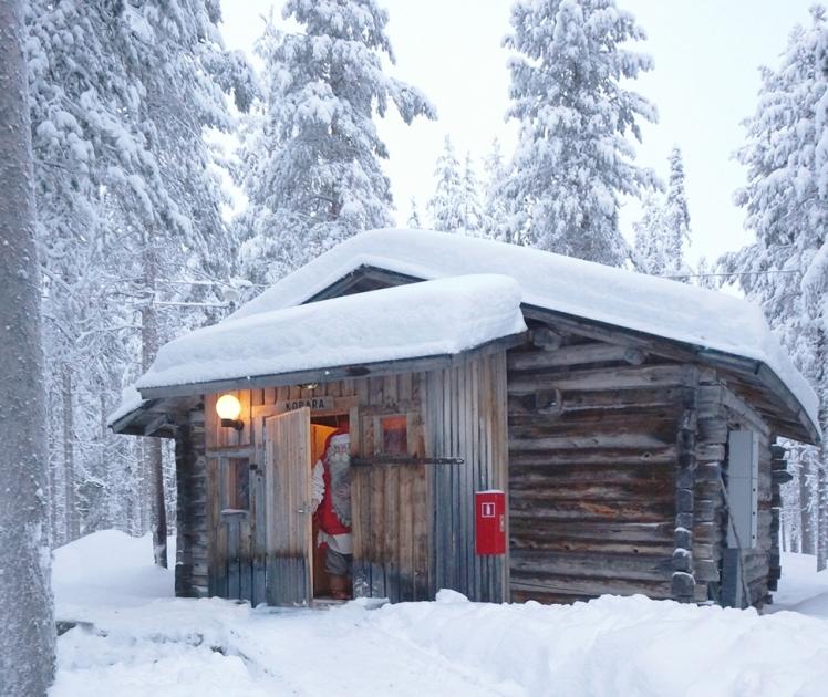 papa noel viaje a Laponia