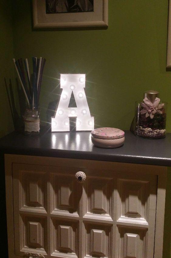 letra luminosa DIY iluminada