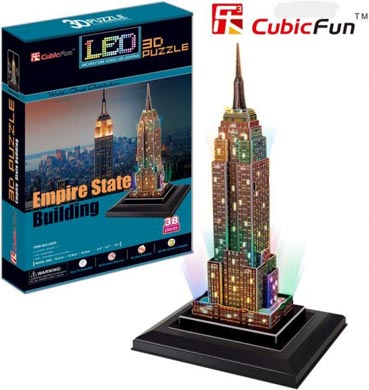 puzzle empire state 3 dimensiones