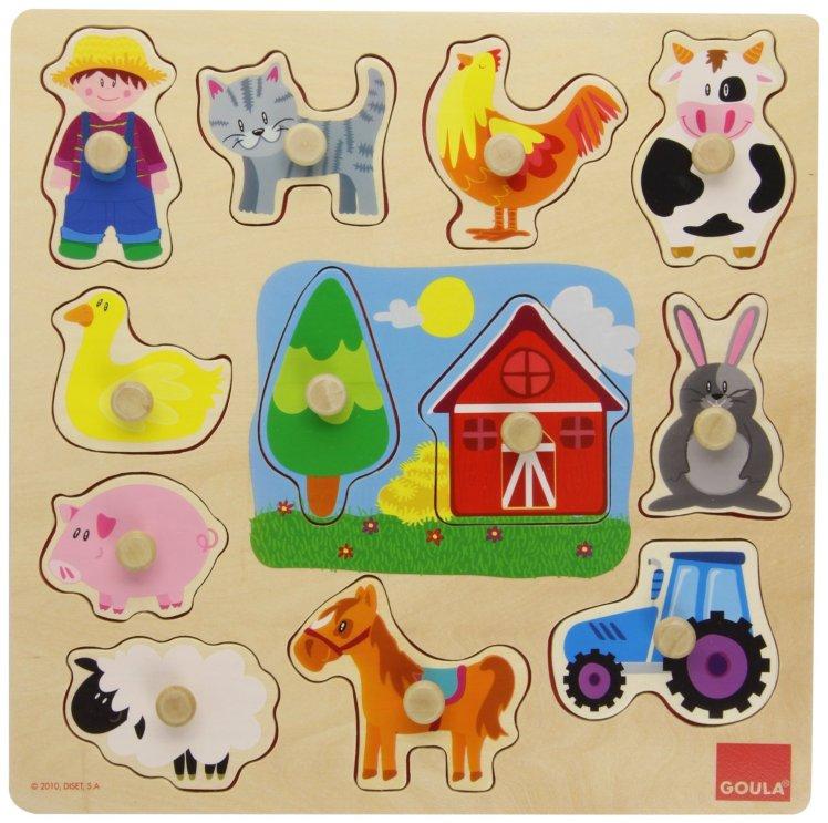 puzzle con agarradera para niños pequeños