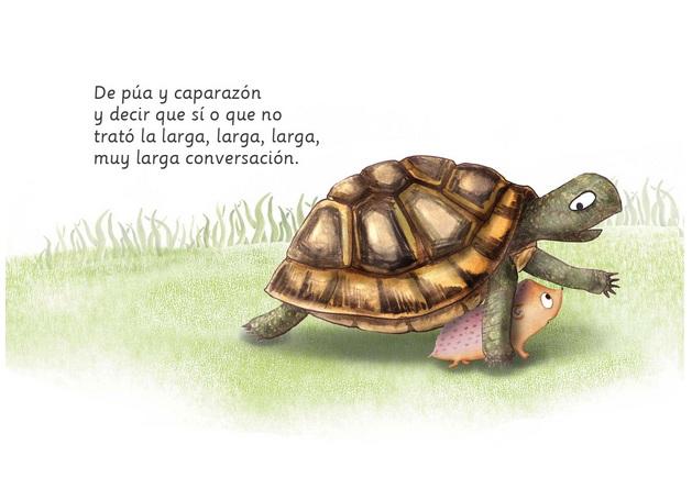 La tortuga le da consejos. Emonautas