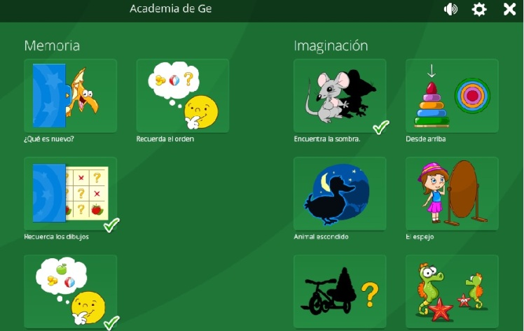 Actividades educativas Academia GE. Magic Desktop