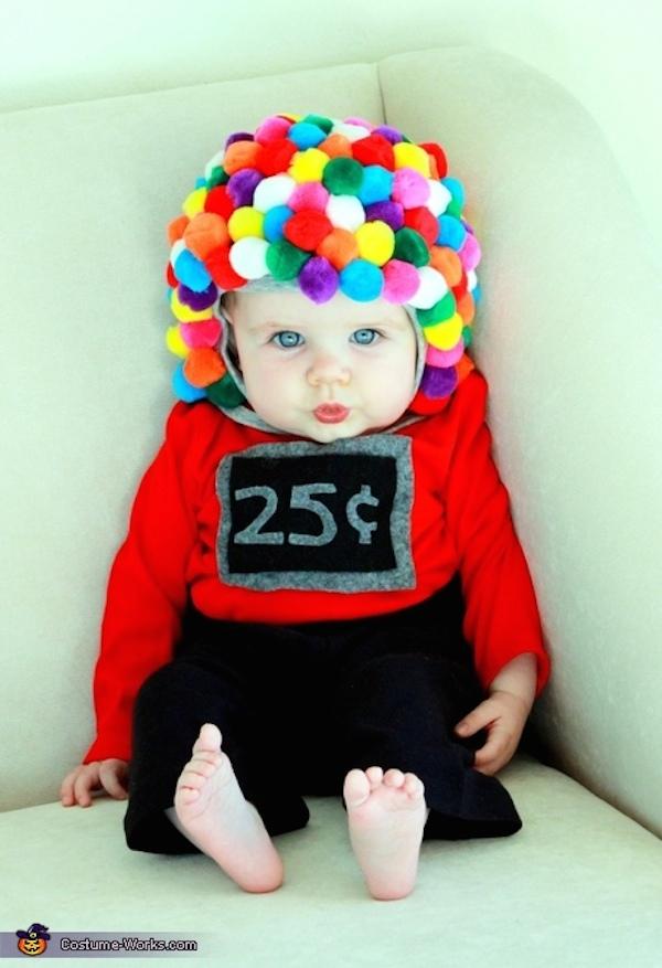 disfraz bebe máquina de chuches