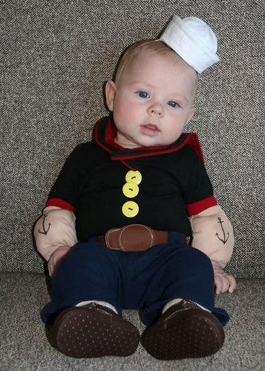 disfraz bebé popeye