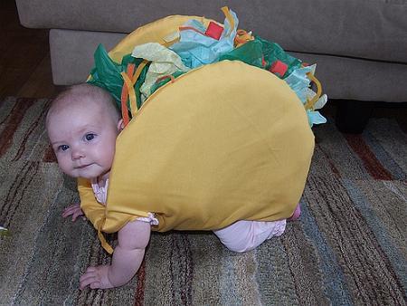 disfraz bebé taco mexicano