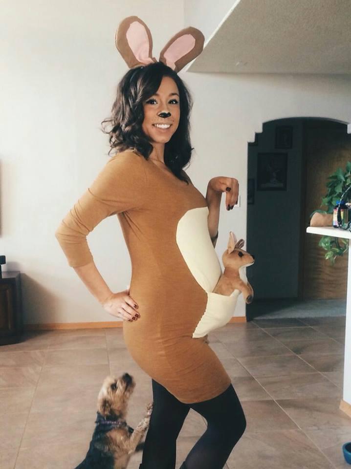 disfraz embarazada mamá canguro