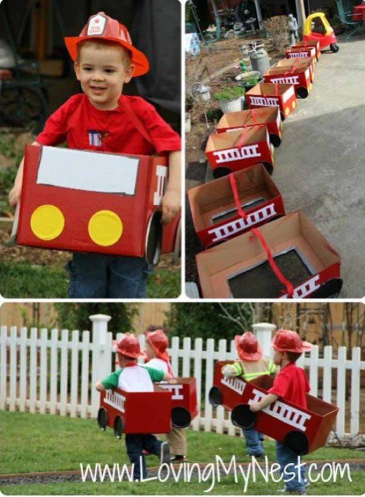 bomberos de cartón