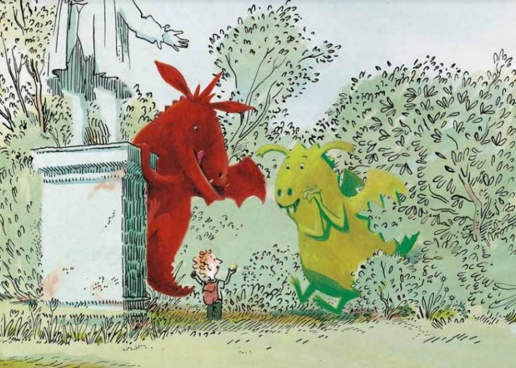 dragón bueno y dragón malo