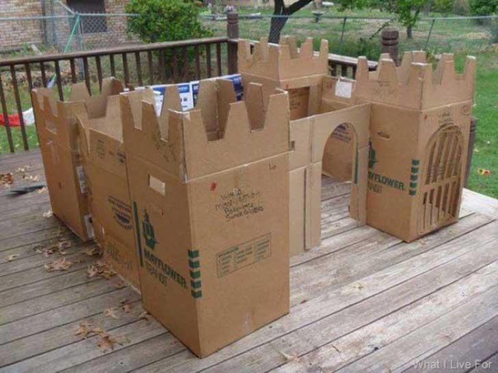 castillo tamaño niño cartón
