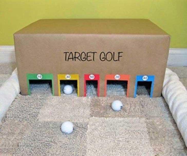 juego mini golf cartón