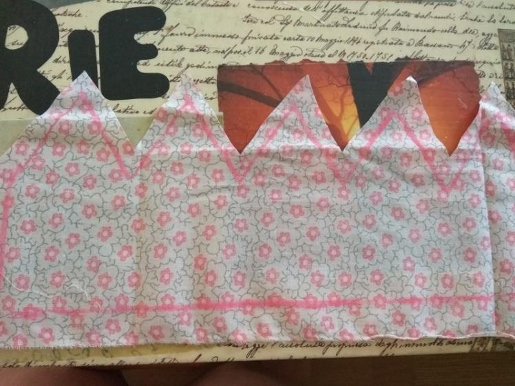 patrón corona cumpleaños marcada en tela